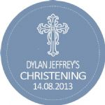 Personalised Boy Christening Sticker Design 9